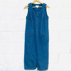 Vintage Denim Maxi Dress